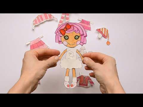 Lalaloopsy PAPER DOLLS 2 - How To Draw Her Clothes / Лалалупси 2 и как нарисовать ей
