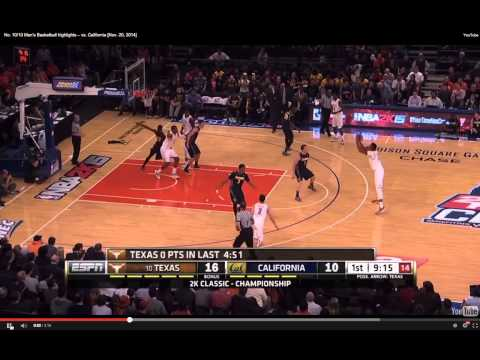 Texas Basketball High-Low Offense, Myles Turner to Jonathan Holmes
