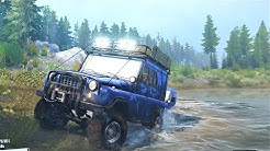 Spintires - Mudrunner | Climbing a rocky mountain