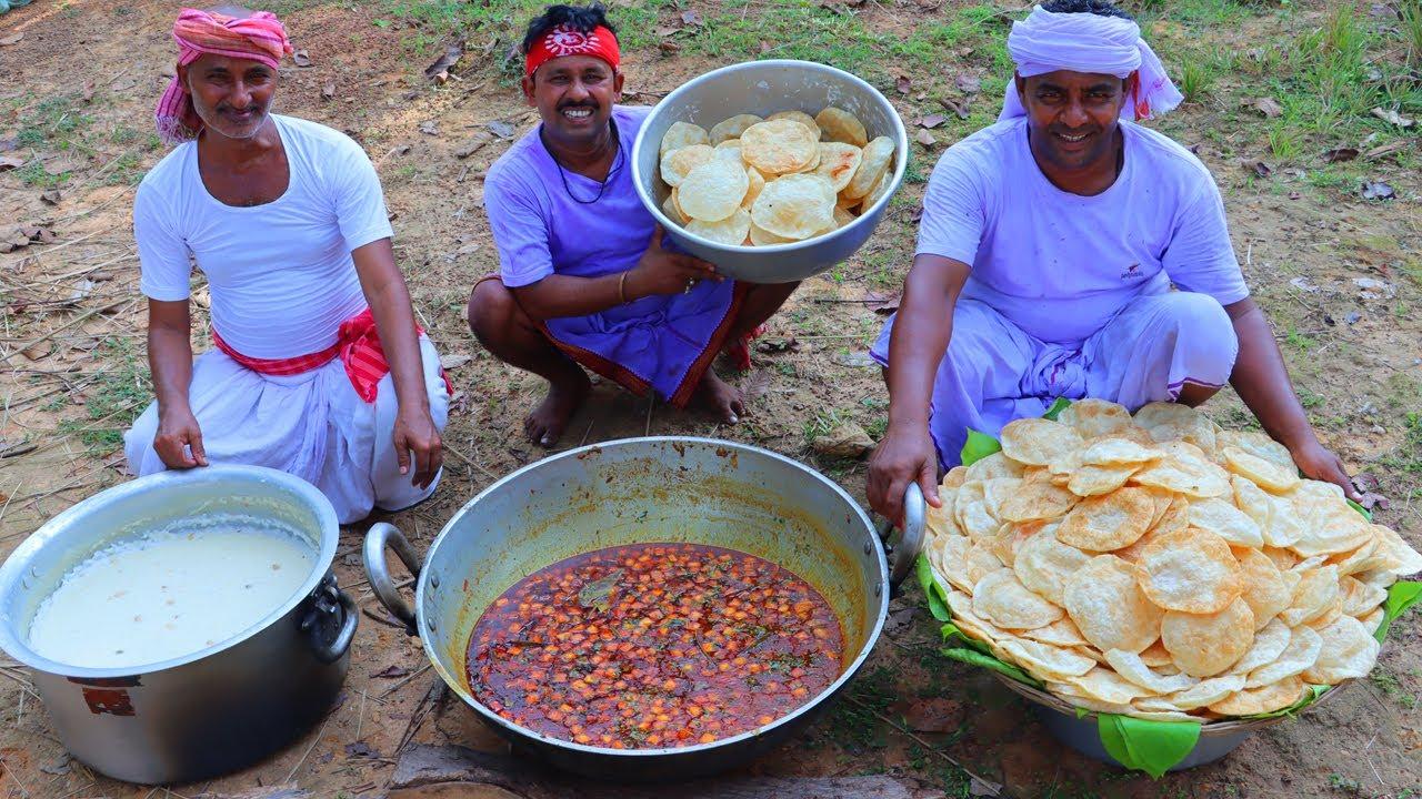 PUJA SPECIAL Fulko Puri & Veg Paneer Alu Dum Recipe prepared for Village People   Village Cooking