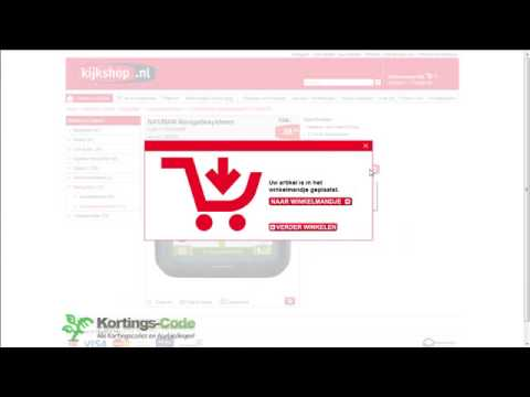 kortingscode kijkshop - youtube