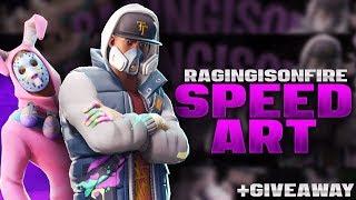 RagingisonFire [+Giveaway] - Fortnite Banner Speedart [#167] | AtmoArtworks