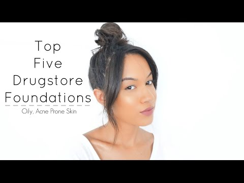 BEST Foundations For Oily, Acne Prone Skin| Drugstore 2015 thumbnail