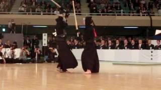 SlowMotion - KATSUMI's M (vs MIYAMOTO) - 64th All Japan KENDO Championship - Semi final 62