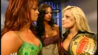 Trish Stratus, Christy Hemme & Candice Michelle Backstage RAW February 21, 2005