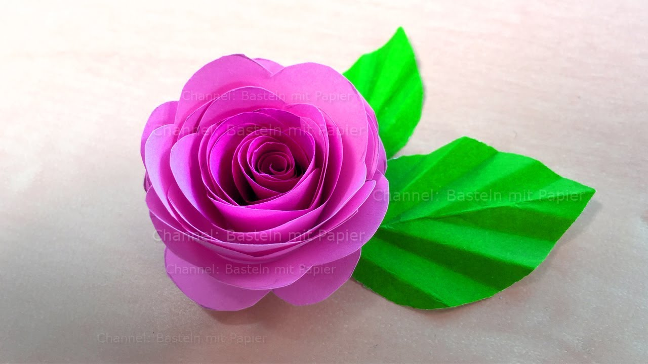 How To Make A Rose With Origami Papier Mother S Day Crafts