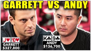 $280,000 at Stake! Garrett Battles Andy in High Stakes Cash Game ♠ Live at the Bike!