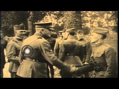 Union soldiers print the first issue of Stars and Stripes newspaper during the Ci...HD Stock Footage