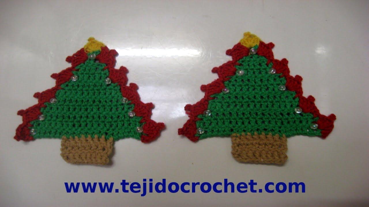 Como tejer un arbolito de navidad en tejido crochet - Arbolito de navidad ...