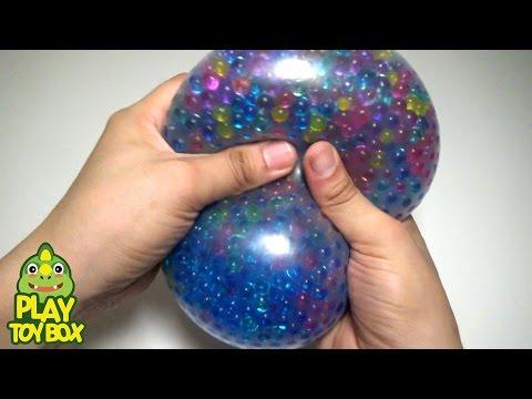 StressBall Orbeez WaterSlide Balloon Surprise Eggs Learn Colors Bath Doll Duck Play