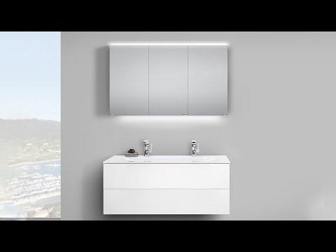 Designer Badmöbel-Set Saphir mit Push-to-open Technik
