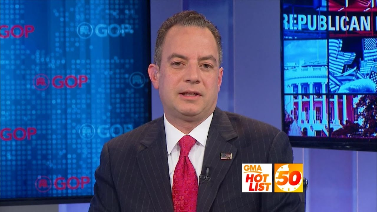 Download 'GMA' Hot List: Reince Priebus on President-Elect Trump's Goals