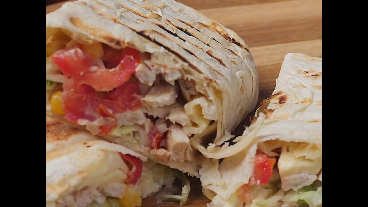 Рецепт домашней шаурмы без майонеза | Диетическая шаурма с курицей