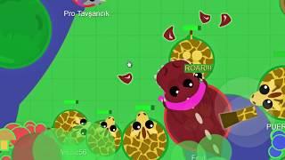 Жираф собрал Армию в Mope.io