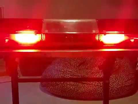 Code 3 MX7000 All red lightbar with LED upgrade Example 3 - YouTube