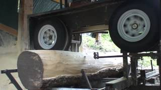 Cutting This Log With My Diy Bandsaw Mill