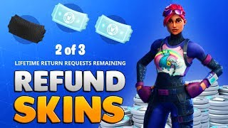 How To REFUND Skins For V-Bucks! (Fortnite Battle Royale Free V-Bucks)