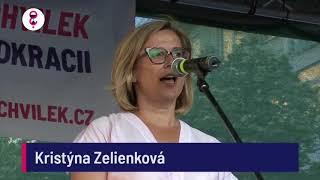 Demonstrace 5. 6. 2018 - Kristýna Zelienková (exposlankyně ANO)