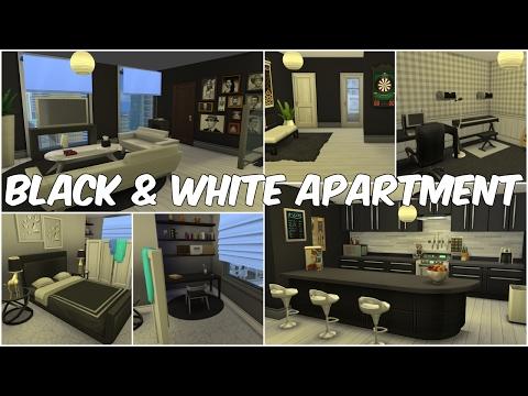 Black & White Apartment | The Sims 4 Speed Build |