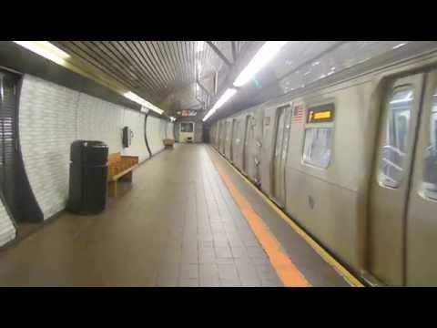 New York City Subway: Coney Island bound R-160B on (F) @ Roosevelt Island