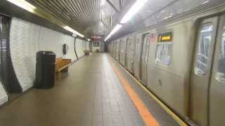 New York City Subway: Coney Island bound R-160B on (F) @ Roosevelt Island