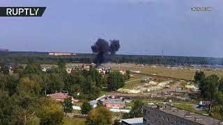 Видео падения Ан-2 в Балашихе