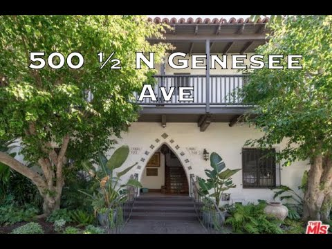 500 1/2 Genesee Ave (TIC), Los Angeles CA 90036