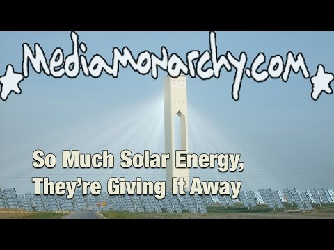 So Much Solar Energy, They're Giving It Away - #GoodNewsNextWeek