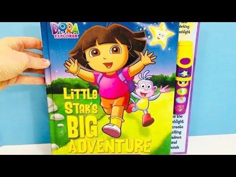 DORA THE EXPLORER Little Star's Big Adventure Story Read Aloud Book And Toy FLASHLIGHT