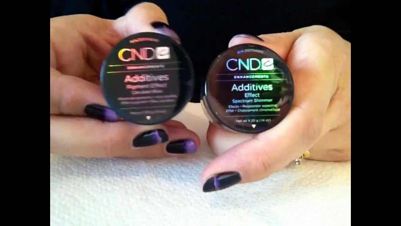 Review - CND Additives & Mica Pigment/Powders (nail art) - YouTube