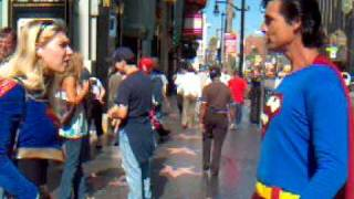 Superman and Supergirl - Kissing Cousins on Hollywood Blvd. - Theyworkfortips.com