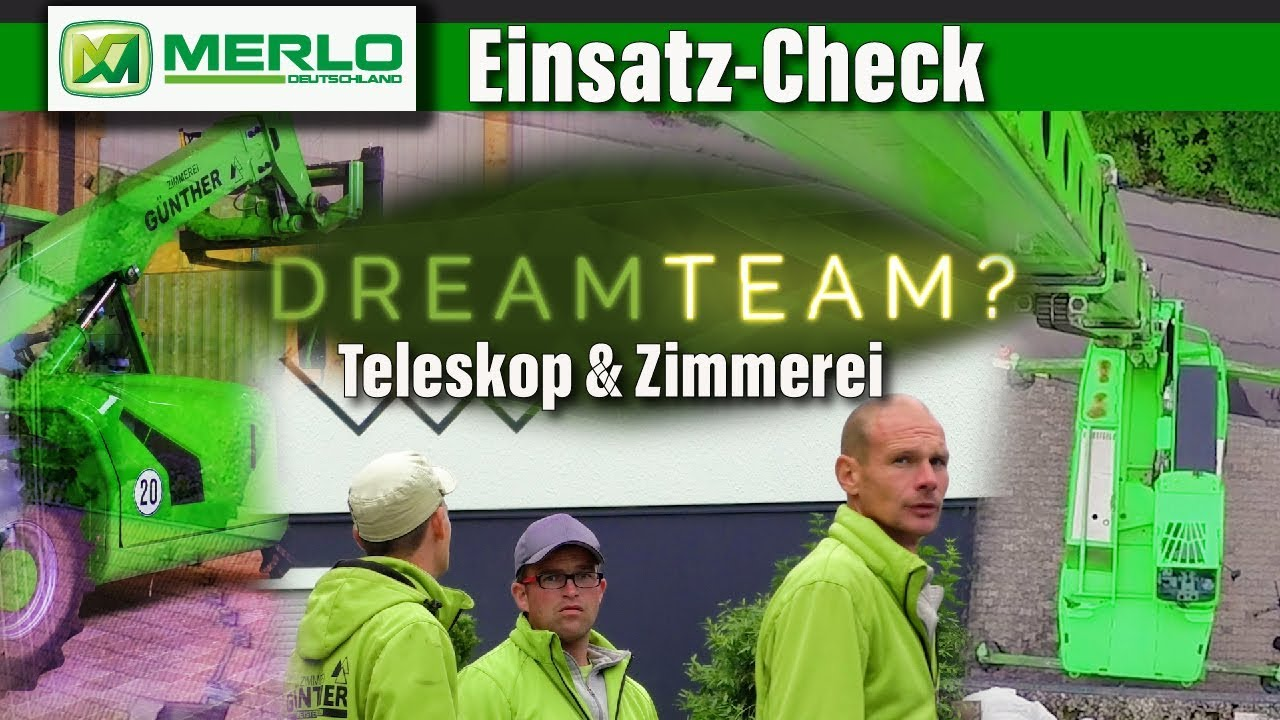Einsatz-Check Zimmererkran: Teleskoplader Roto/Kompakt bei Zimmerei in Holzhallenbau & Co.