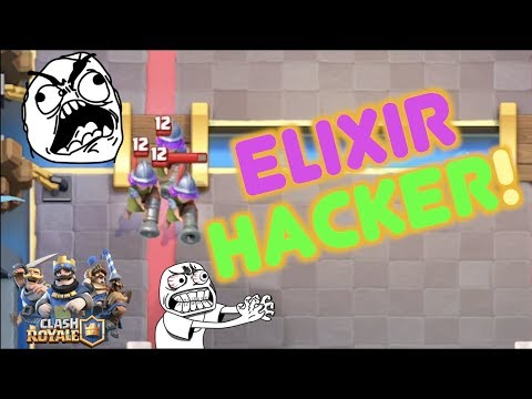 THIS GUY HACKED HIS ELIXIR!! WTF?! | Clash Royale