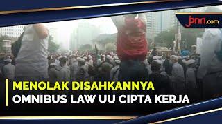 Gelar Aksi, Aliansi Nasional Anti Komunis Minta UU Cipta Kerja di Batalkan - JPNN.com