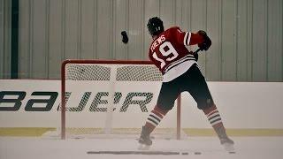 Chicago Blackhawks Jonathan Toews pulls off insane trick shot