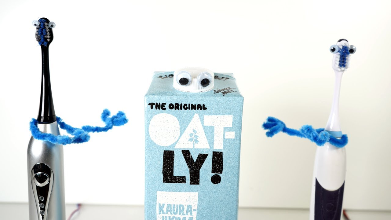 Wow No Cow (Oatly Super Bowl Ad Song) on Electric Toothbrushes