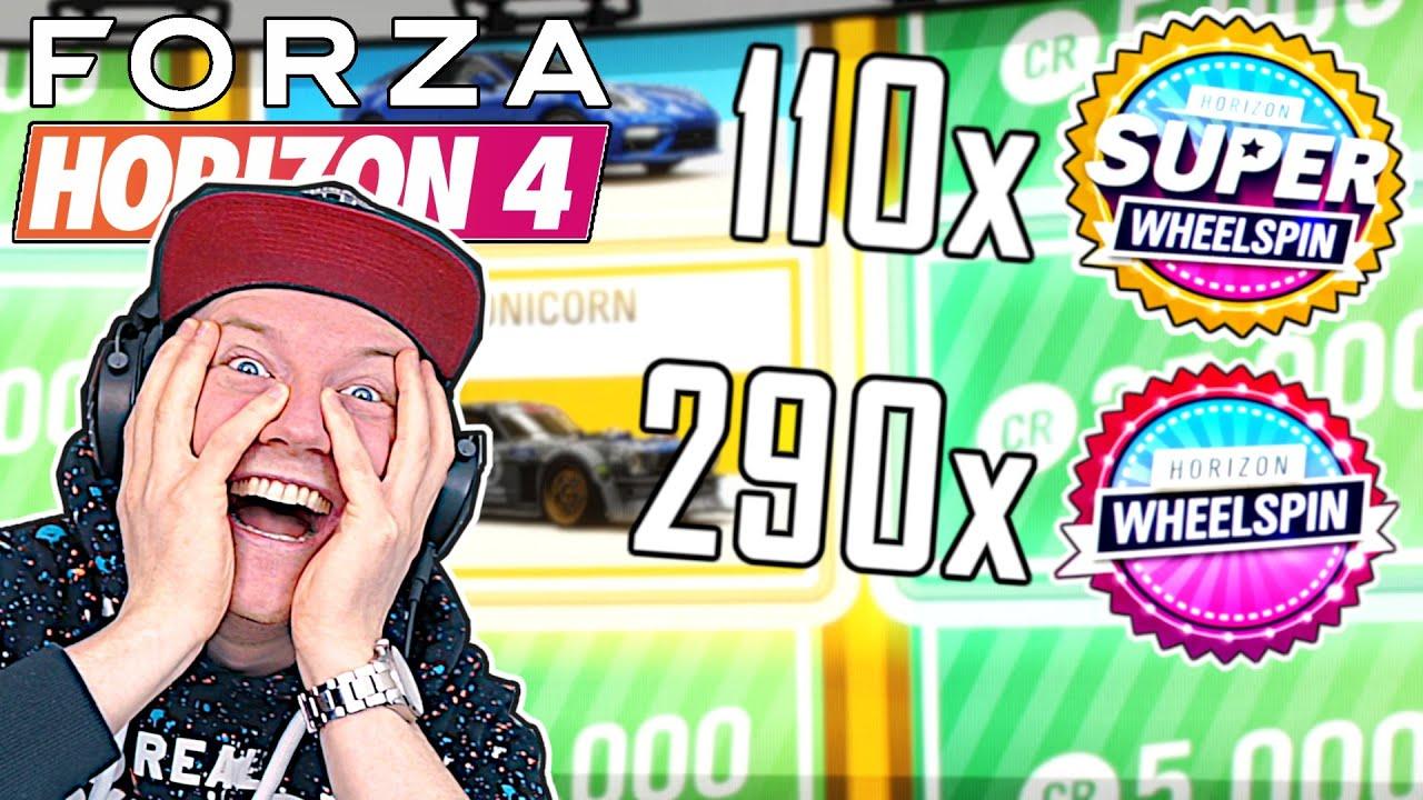 400+ WHEELSPINS öffnen!! | Forza Horizon 4 Extreme