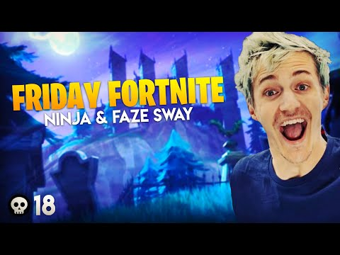 INSANE Friday Fortnite Win! Ninja & Faze Sway