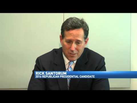 Republican Presidential Candidate Rick Santorum Ma