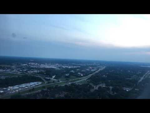 Landing at Memphis International Airport at dusk