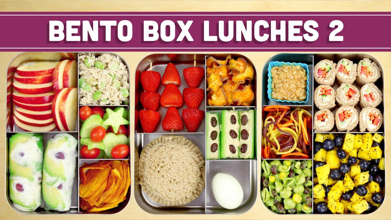 Bento Box Lunches | Healthy Recipes! - Mind over Munch YouTube