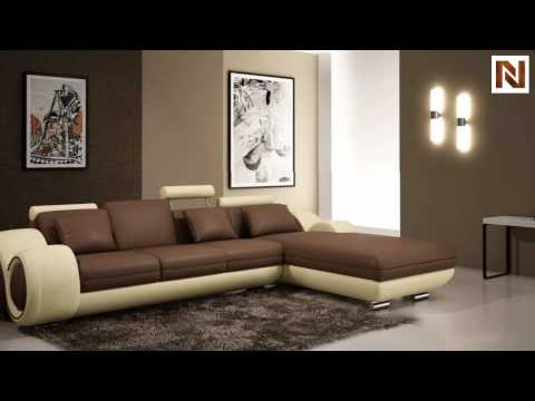modern bonded leather sectional sofa with recliner vgev4085 from vig furniture - Vig Furniture
