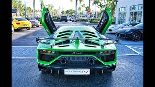 Lamborghini Aventador SVJ BEAST ARRIVAL to Lamborghini Miami Start Up & Drive FIRST IMPRESSION