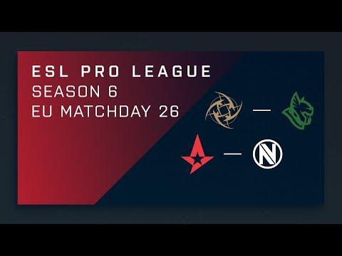 CS:GO: NiP vs. Heroic | Astralis vs. EnVy - Day 26 - ESL Pro League Season 6 - EU Main Stream