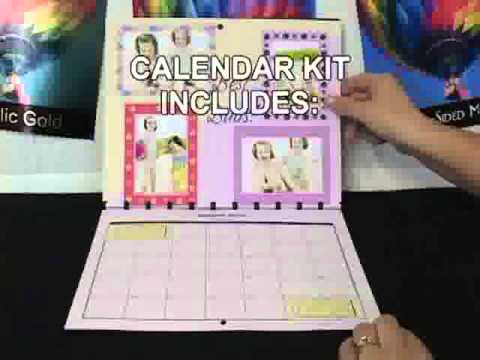 How To Make Your Own Calendar With PrintonitS Calendar Kit  Youtube