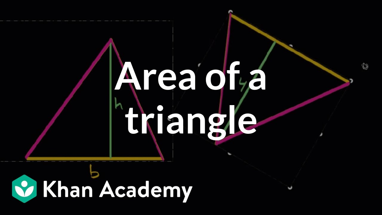 Area of a triangle (video)   Geometry   Khan Academy [ 720 x 1280 Pixel ]