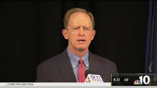 In addition to announcing his end the senate seat, pat toomey also said that he will not be running for governor. nbc10's lauren mayk spoke with senator t...