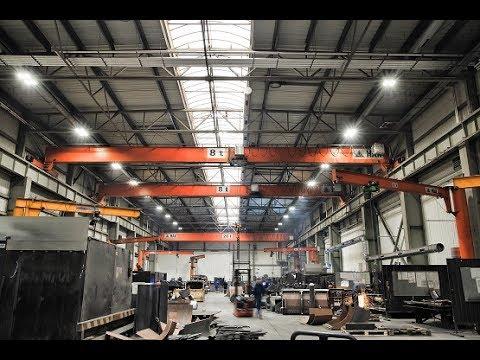 Suwnice pomostowe, żurawie słupowe - wyposażenie zakładów produkcyjnych - Przedsiębiorstwo HAK