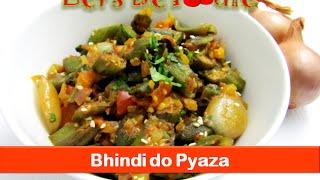 Bhindi Do Pyaza Recipe/india Veg Okra Fry Dinner Lunch Box Sabji Recipes-let's Be Foodie