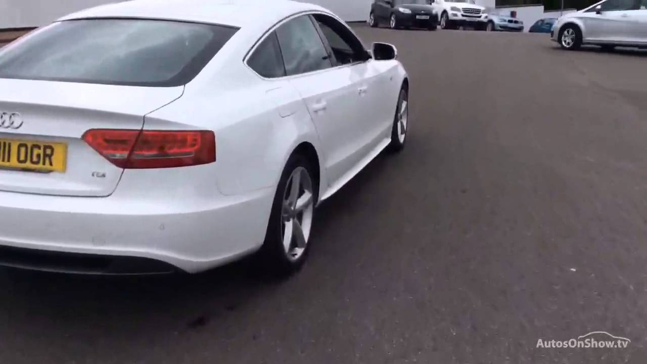 audi a5 sportback tdi s line white 2011 youtube. Black Bedroom Furniture Sets. Home Design Ideas